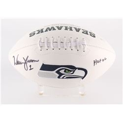 "Warren Moon Signed Seahawks Logo Football Inscribed ""HOF 06"" (Radtke Hologram)"