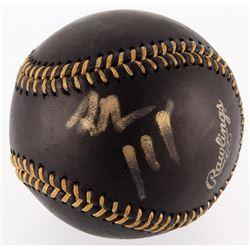 Jack White Signed OML Black Leather Baseball (PSA COA)