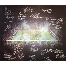 2017 Philadelphia Eagles 20x24 LE Photo on Canvas Team-Signed by (20) with Carson Wentz, Nick Foles,