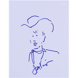 Jon Voight Signed 8x10 Sketch (JSA COA)