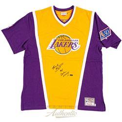 "Kobe Bryant Signed LE Lakers Shooting Shirt Inscribed ""97 Dunk Champ"" (Panini COA)"