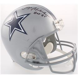 Roger Staubach Signed Cowboys Full-Size Helmet Inscribed  HOF '85  (JSA COA)