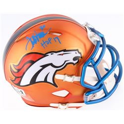 Terrell Davis Signed Broncos Mini Blaze Speed Helmet Inscribed  HOF 17  (Radtke COA  Davis Hologram)