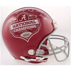 Trent Richardson Signed Alabama Crimson Tide Full-Size Authentic On-Field Helmet Inscribed  2011 Cha