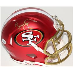 Ronnie Lott Signed 49ers Blaze Speed Mini Helmet (Radtke COA)