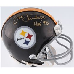 "Jack Lambert Signed Steelers Mini-Helmet Inscribed ""HOF 90"" (JSA COA)"