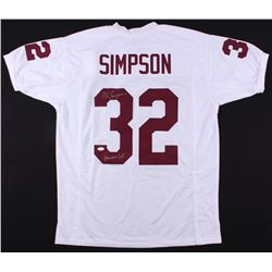 "O.J. Simpson Signed USC Trojans Jersey Inscribed ""Heisman 68'"" (JSA COA)"