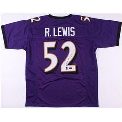 Ray Lewis Signed Ravens Jersey (Radtke COA  Lewis Hologram)