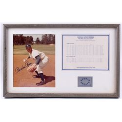 Pee Wee Reese Signed Dodger 13.25x21.25 Custom Framed Photo Display (JSA COA)