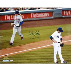 """Noah Syndergaard Signed Mets 16x20 Photo Inscribed """"2 HR 5-11-16"""" (Steiner COA  MLB Hologram)"""