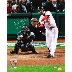 """Mike Lowell Signed Red Sox 16x20 Photo Inscribed """"07 WS MVP"""" (MLB Hologram)"""