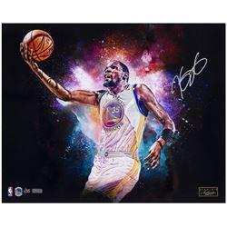 "Kevin Durant Signed Warriors ""Cosmic"" LE 16x20 Photo (Panini COA)"