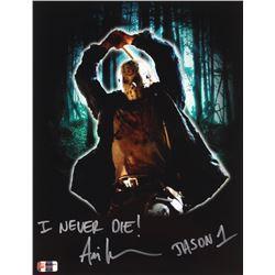"Ari Lehman Signed Jason Voorhees 11x14 Photo Inscribed ""I Never Die!""  ""Jason 1""  (PA COA)"
