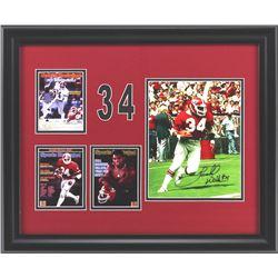 Herschel Walker Signed Georgia Bulldogs 19x23 Custom Framed Photo Display (Radtke COA)