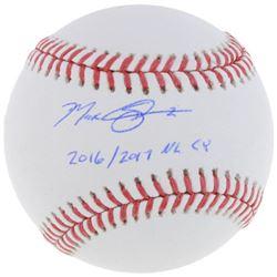 """Max Scherzer Signed Baseball Inscribed """"2016/2017 NL CY"""" (Fanatics  MLB Hologram)"""