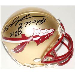 "Devonta Freeman Signed Florida State Seminoles Mini Helmet Inscribed ""2,730 yds""  ""31 TDs"" (Radtke C"