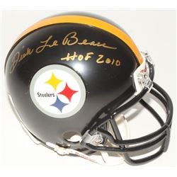 """Dick Lebeau Signed Steelers Mini Helmet Inscribed """"HOF 2010"""" (Radtke Hologram)"""