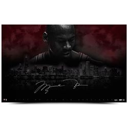 "Michael Jordan Signed LE Bulls ""City Of Big Shoulders"" 25x40 Photo (UDA COA)"