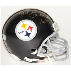 "Jack Lambert Signed Steelers Throwback Mini Helmet Inscribed ""HOF 90"" (Radtke COA  Lambert Hologram)"