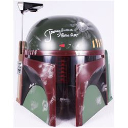 "Jeremy Bulloch Signed Star Wars ""Boba Fett"" Full-Size Deluxe Edition Star Wars Helmet Inscribed ""Bob"