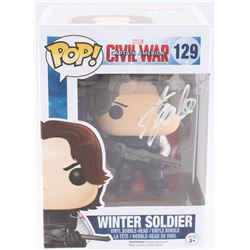 "Stan Lee Signed ""Winter Soldier"" #129 Captain America: Civil War Marvel Funko Pop Bobble-Head Vinyl"
