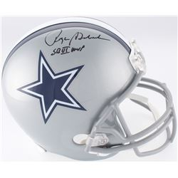 "Roger Staubach Signed Dallas Cowboys Full-Size Helmet Inscribed ""SB VI MVP"" (JSA COA)"