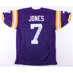 "Bert Jones Signed LSU Tigers Jersey Inscribed ""'Ruston Rifle'"" (JSA COA)"