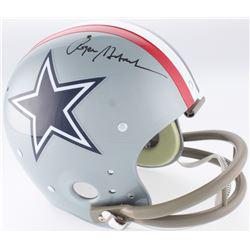 Roger Staubach Signed Dallas Cowboys Throwback Suspension Full-Size Helmet (JSA COA)