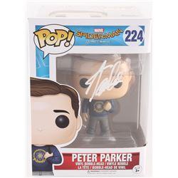 "Stan Lee Signed ""Peter Parker"" #224 Spider-Man: Homecoming Marvel Funko Pop Vinyl Bobble-Head Figure"
