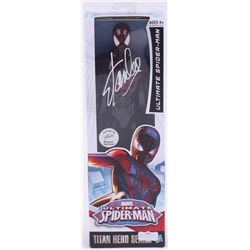 """Stan Lee Signed """"Spider-Man"""" Ultimate Spider-Man Marvel Titan Hero Series Figure (Radtke Hologram  L"""