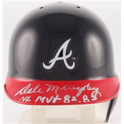 "Dale Murphy Signed Braves Mini Batting Helmet Inscribed ""NL MVP 82, 83"" (Radtke COA)"