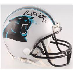 Wesley Walls Signed Panthers Mini-Helmet (Radtke COA)
