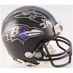 Steve Smith Sr. Signed Ravens Mini Helmet (Radtke COA)