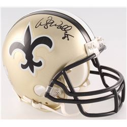 Wesley Walls Signed Saints Mini-Helmet (Radtke COA)