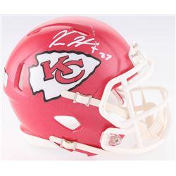Kareem Hunt Signed Chiefs Speed Mini-Helmet (Radtke COA)
