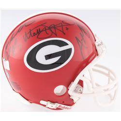 "Fran Tarkenton, Aaron Murray  Matthew Stafford Multi-Signed Georgia Bulldogs Mini-Helmet Inscribed """