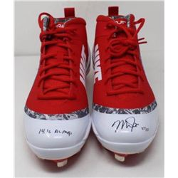 Mike Trout Signed Pair of Angels Nike Zoom 4 Cleats Inscribed  14.16 AL MVP  (Steiner COA)