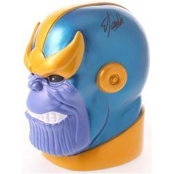 """Stan Lee Signed Signed """"Thanos"""" Coin Bank (Radtke COA  Lee Hologram)"""