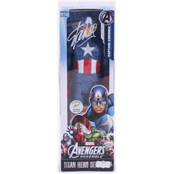 "Stan Lee Signed ""Avengers"" Captain America Marvel Titan Hero Series Figure (Radtke Hologram  Lee Hol"
