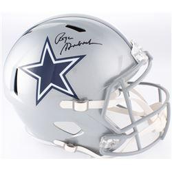 Roger Staubach Signed Cowboys Full-Size Speed Helmet (JSA COA)