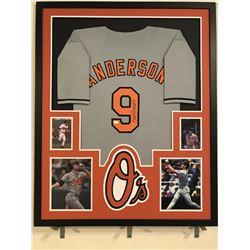 Brady Anderson Signed Orioles 34x42 Custom Framed Jersey (JSA COA)