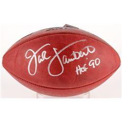 "Jack Lambert Signed Official NFL Super Bowl XIV Logo Game Ball Inscribed ""HOF '90"" (Radtke COA)"