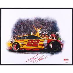 Joey Logano Signed NASCAR  Daytona 500 Win  Limited Edition 11x14 Photo #/22 (PA COA)
