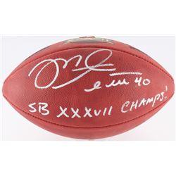 "Mike Alstott Signed Official Super Bowl XXXVII Logo Football Inscribed ""SB XXXVII Champs!"" (Radtke C"