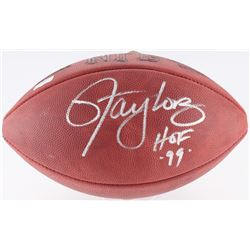 "Lawrence Taylor Signed Official NFL Game Ball Inscribed ""HOF '99"" (Radkte COA)"