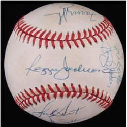 OAL Baseball Signed by (12) Members of the 1978 World Series With Billy Martin, Reggie Jackson, Catf