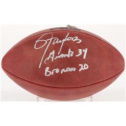 "Lawrence Taylor Signed Super Bowl XXI NFL Football Inscribed ""Giants 39 Broncos 20"" (JSA COA)"