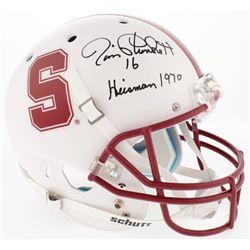 "Jim Plunkett Signed Stanford Cardinal Full-Size Helmet Inscribed ""Heisman 1970"" (Radtke COA)"
