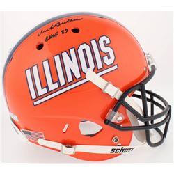 "Dick Butkus Signed Illinois Fighting Illini Full-Size Helmet Inscribed ""CHOF 83"" (Radtke COA)"