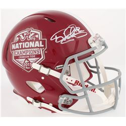 Mark Ingram Signed 2015 Alabama Crimson Tide National Champions Logo Full-Size Authentic On-Field Sp
